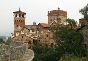 Castello di Pavone, Italy--a delightful, 14th-century castle in the Piedmont region.
