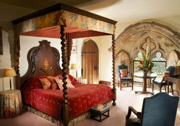 Amberley Castle, England--noble bedrooms are all part of the fantasy.